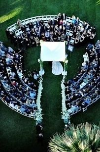Arrange your seats in a circular pattern so you're literally surrounded by the people who love you.- 31 Impossibly Romantic Wedding Ideas