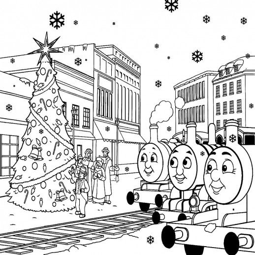 Coloring Pages Of Le Trees : 244 best thomas the train images on pinterest