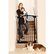 Extra-Tall Swing Closed Security Gate - Black. video