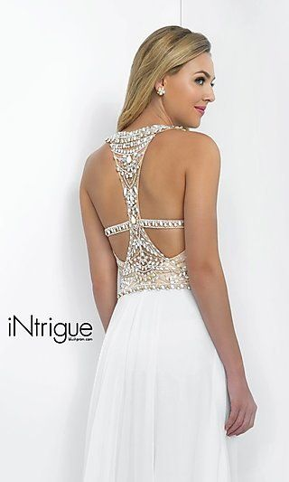 Beaded White Gown