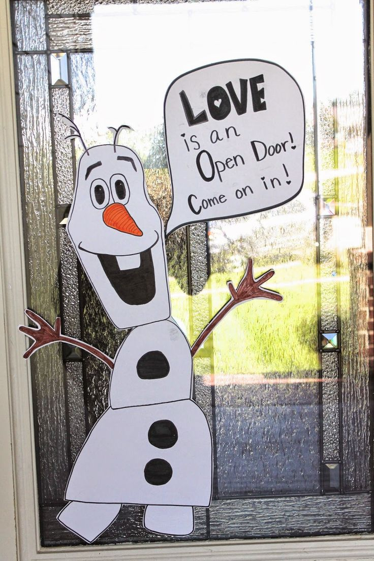 "Olaf Door Decoration #frozenparty #olafdecoration - maybe instead, write ""ECSE is an open door!  Come on in!"""