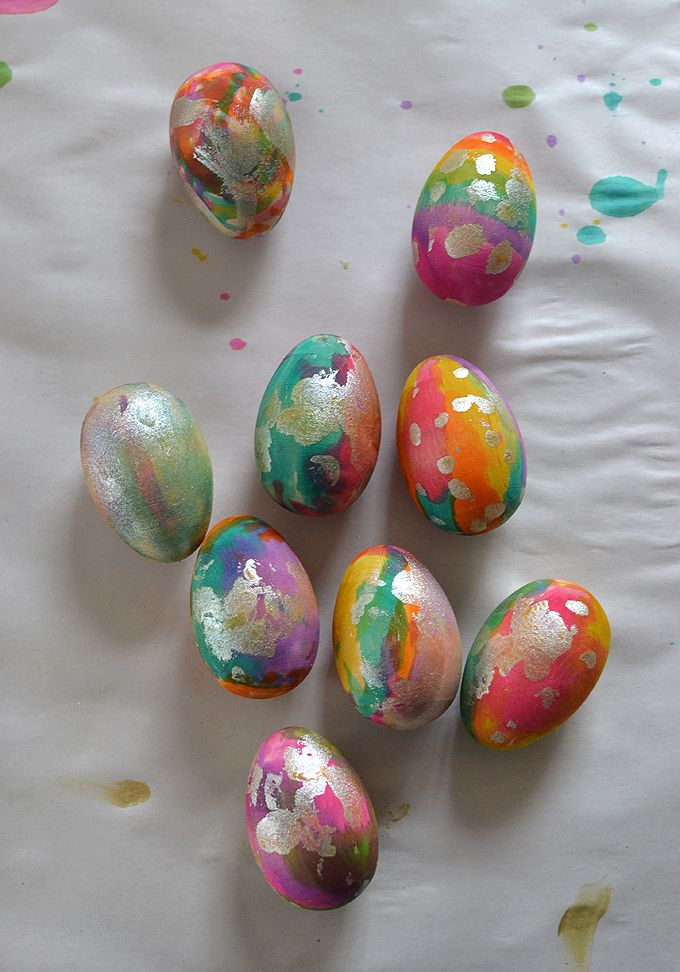 Hand painted wooden easter eggs will last the test of time and are great fun to decorate too!
