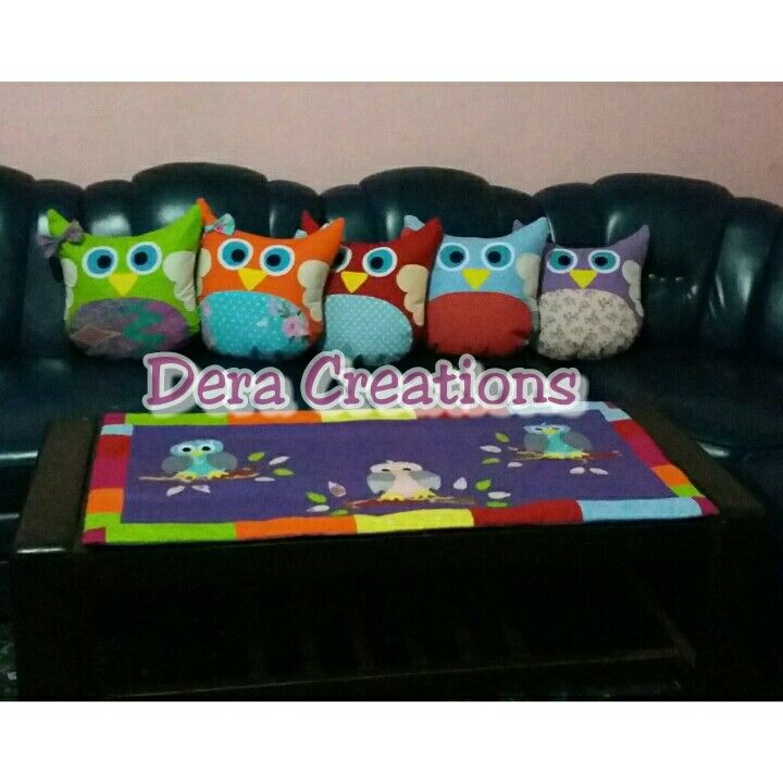 Owl set pillows