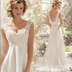 Online Shop Affordable 2015 new HOT SALES LONG LACE Strap WHITE WEDDING DRESS Chiffon|Aliexpress Mobile