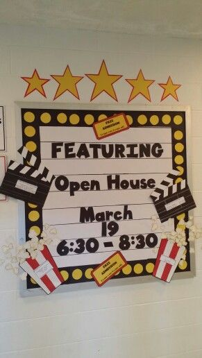 Movie theater or marque themed bulletin board.