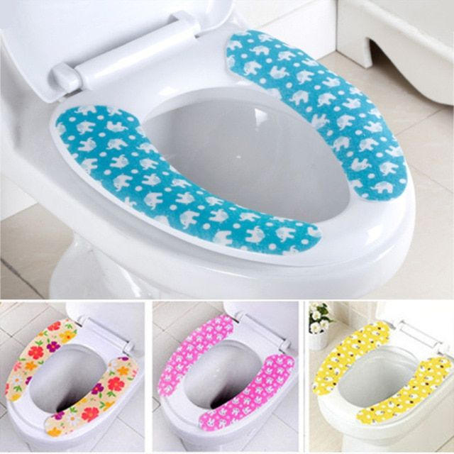 Toilet Seat Cover Soft Wc Toilet Seat Pad Washable Bathroom Warmer Seat Lid Cover Pad Sticky Seat Mat Bath Supplies In 2020 Toilet Seat Cover Funny Shower Curtains Seat Pads