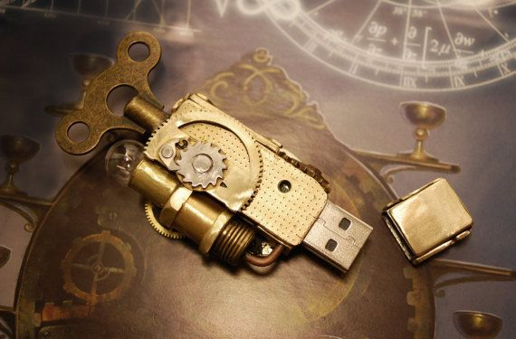 Steampunk USB 32 Gb Flash drive por Cyberart en Etsy
