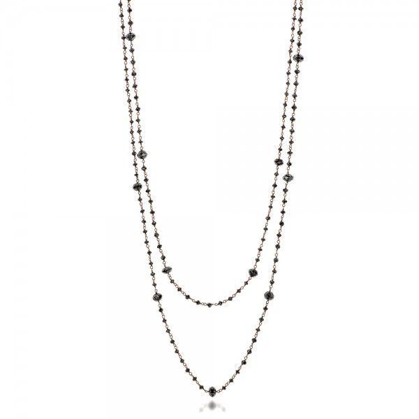Rosary Black Diamond Necklace