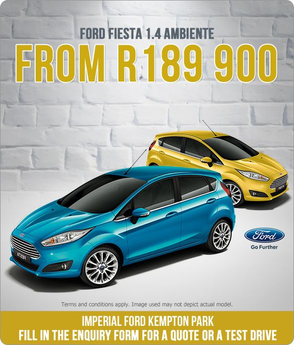 Ford Fiesta 1.4 Ambiente From only R189 900