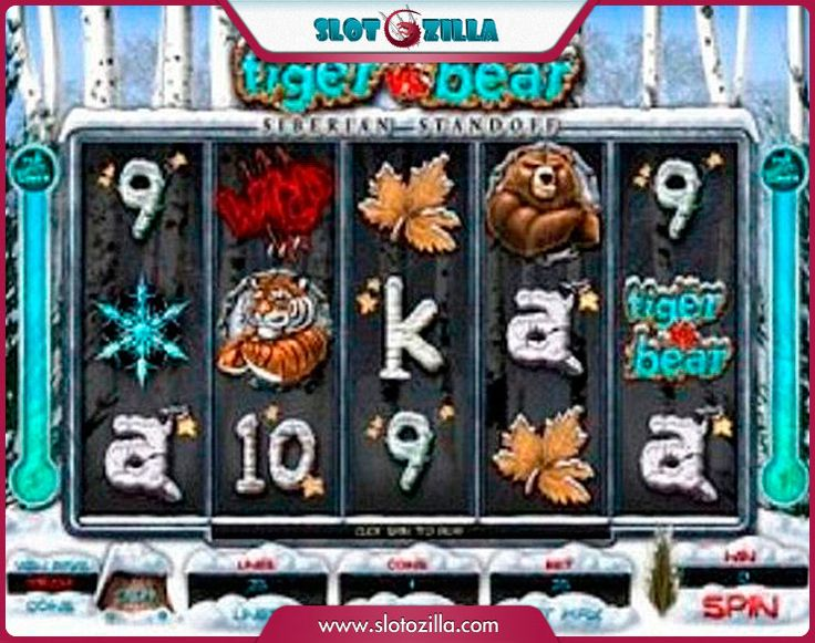 Tiger Vs Bear free #slot_machine #game presented by www.Slotozilla.com - World's biggest source of #free_slots where you can play slots for fun, free of charge, instantly online (no download or registration required) . So, spin some reels at Slotozilla! Tiger Vs Bear slots direct link: http://www.slotozilla.com/free-slots/tiger-bear