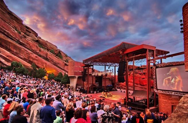 10 Best Outdoor Music Venues in the U.S.- RED ROCKS AMPHITHEATRE Where: Morrison, Colorado As the world's only naturally-occurring and acoustically perfect amphitheatre, Red Rocks is a must-visit for any music-lover. The Beatles, U2, Sting, and many more stars have performed on the stage, made up of two 300-foot rocks and sandstone.