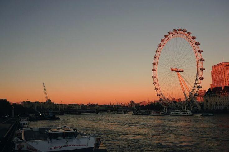 Londen eye, London eye, Londen, London, city, sunset, goals