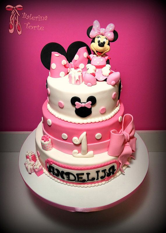 1000 images about mickey mouse and minnie cakes miki. Black Bedroom Furniture Sets. Home Design Ideas