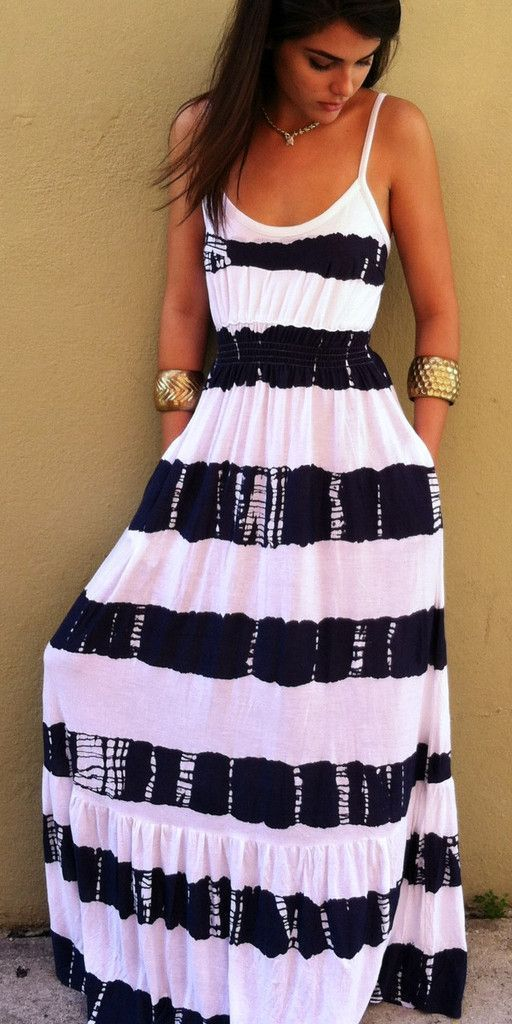 Everyday New Fashion: Summer Stripes Maxi Dress
