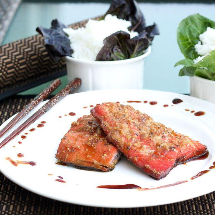 maple soy salmon recipe dinner