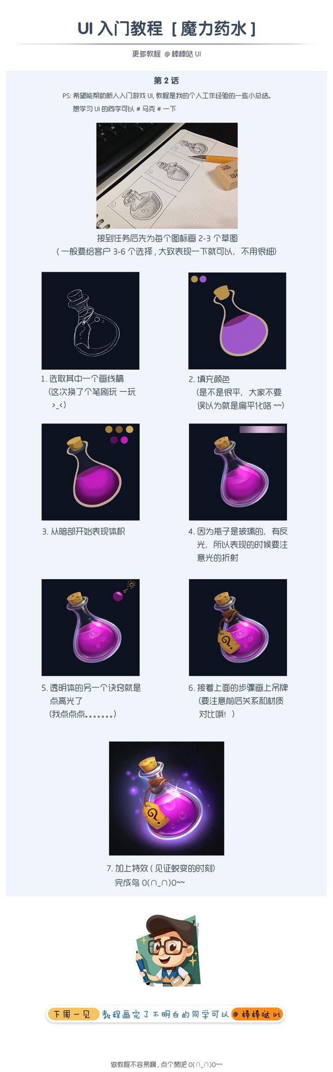 原创作品:游戏UI入门教程_魔力药水(透...★ Find more at http://www.pinterest.com/competing/