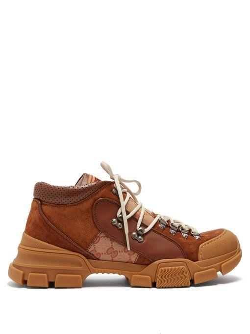 b36a5c8b2a95 GUCCI GUCCI - FLASHTREK SUEDE TRAINERS - MENS - BEIGE MULTI.  gucci  shoes