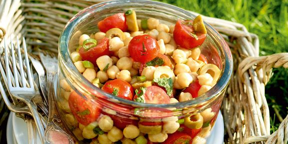 Salade van kikkererwten op z'n Marokkaans