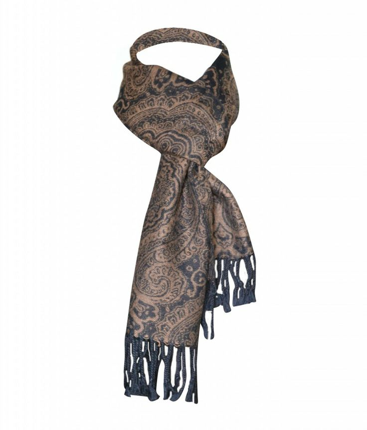 Men's Silk Scarves Sale | Home Color Men's Scarf Brown Silk Paisley