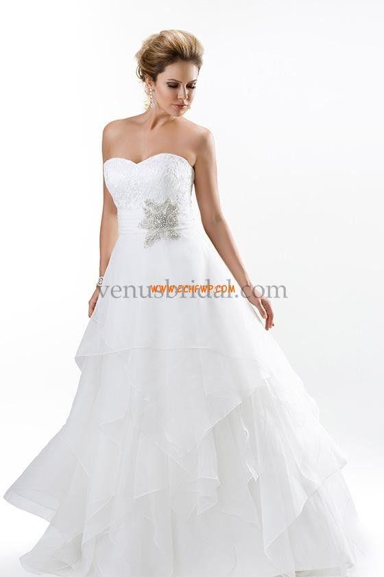 Srdíčko Klasické & nadčasové Výšivka Svatební šaty 2015