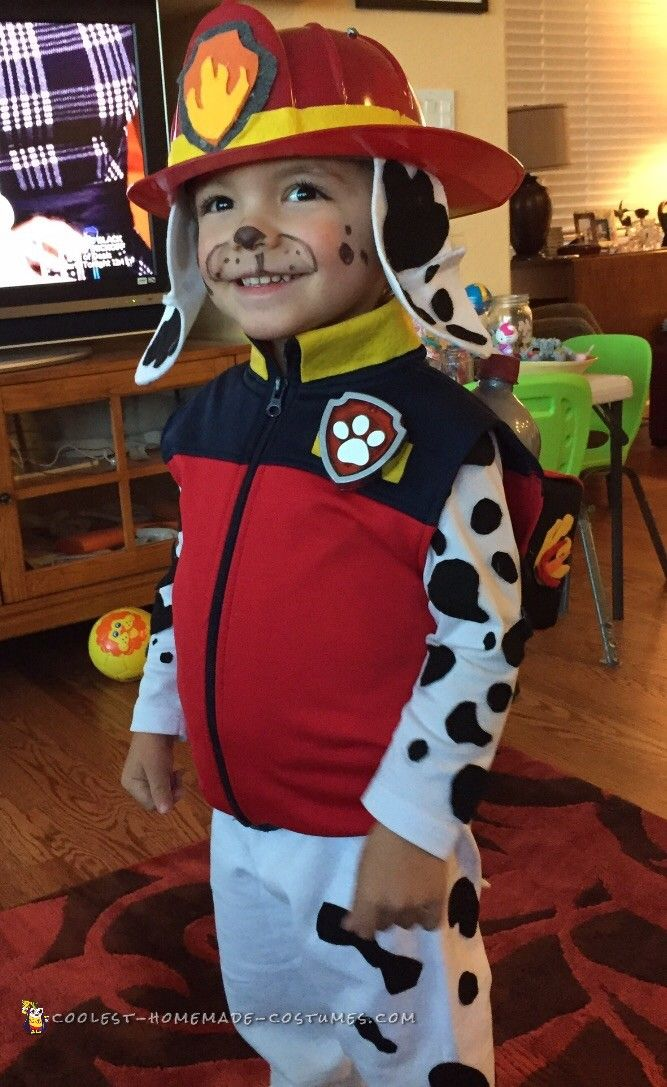 Cute DIY Paw Patrol Marshall Costume... Coolest Homemade Costumes
