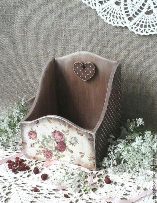 Купить Короб для рецептов Розочки винтажные - разноцветный, короб для хранения, розочки, розы, винтаж