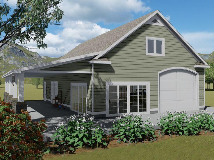 065g 0007 Boat Storage Garage Plan With Loft Carriage House Plans Porch House Plans Garage House Plans