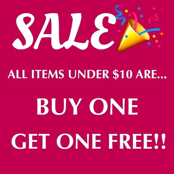 BOGO 2 DAY SALE All Items UNDER $10 Are Buy One Get One