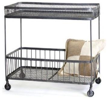 You see bar cart, I see book cart    Loft Bar Cart eclectic bar carts
