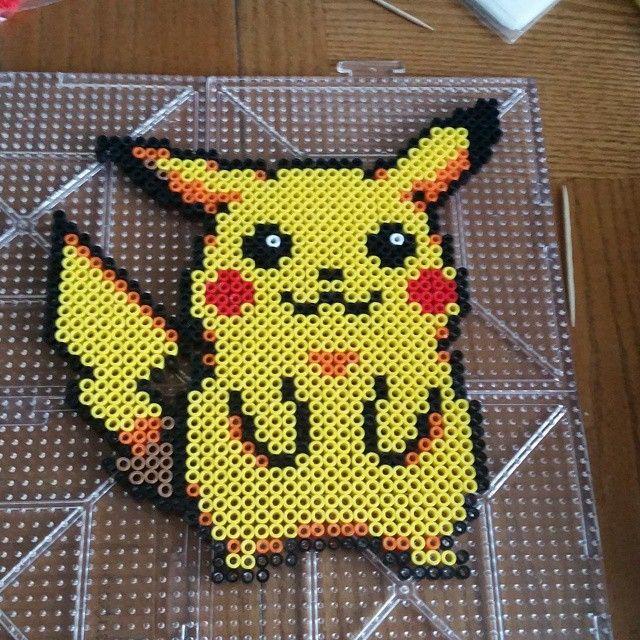 Pikachu Pokemon perler beads by itssfine