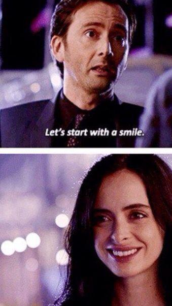 """Let's start with a smile"" - Kilgrave and #JessicaJones"