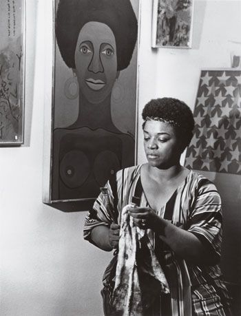 Faith Ringgold in her studio, 1969. COURTESY THE ARTIST