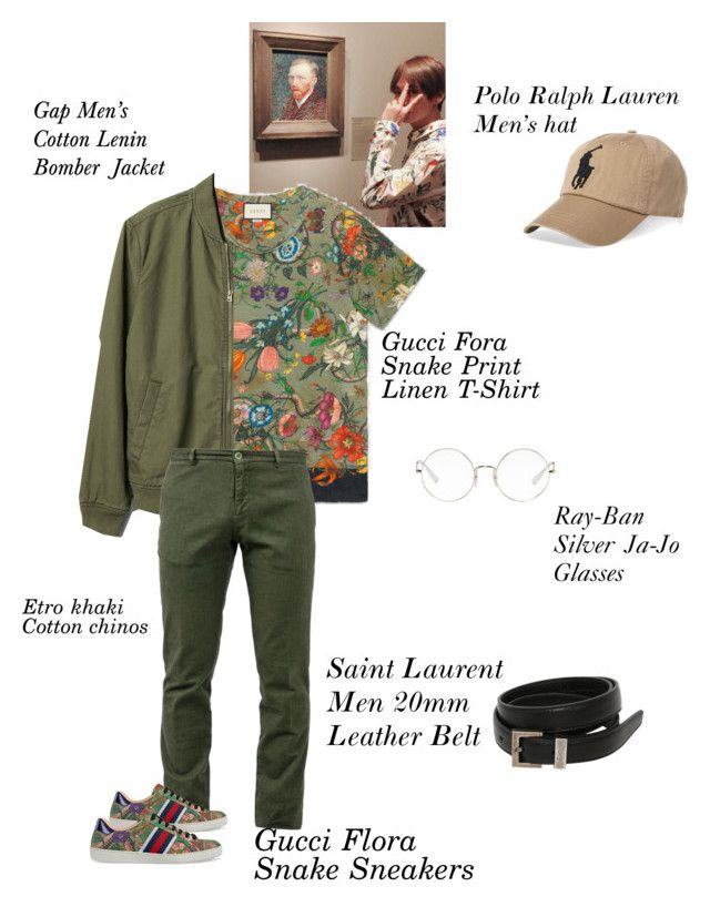 """Guy Code"" by krystle-gardner on Polyvore featuring Gucci, Gap, Ray-Ban, Polo Ralph Lauren, Yves Saint Laurent, Etro, men's fashion, menswear, rayban and saintlaurent"