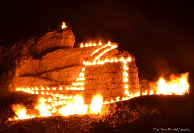 Summer Night Blast - Crazy Horse is the world's largest mountain carving located in the Black Hills of South Dakota. A memorial for all Native American tribes, it is considered The Eighth Wonder of the World in progress.