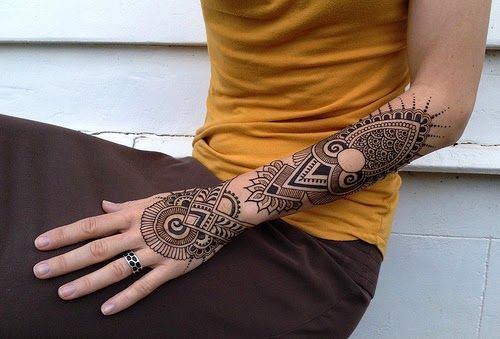 tattoo sleeve women geometric - Pesquisa Google