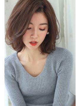 ラフカール☆タンバルモリミディアムボブ - 24時間いつでもWEB予約OK!ヘアスタイル10万点以上掲載!お気に入りの髪型、人気のヘアスタイルを探すならKirei Style[キレイスタイル]で。