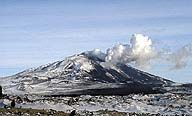 Hekla Volcano, Iceland.      Iceland is actually an above sea level extension of the Mid-Ocean Ridge and is lengthening at about an inch a year.