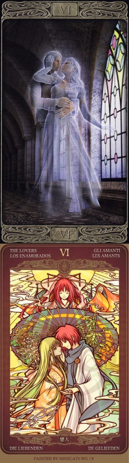 THE LOVERS: choice and loss of balance (reverse). Ghost Tarot deck and Oze 69 Watchers Tarot deck: free tarot card reading uk, free card reading online vs tarot reading. Best 2018 tarot cards and tarot altar. #hierophant #halloweenparty #ilovemywitchyways #backtonature #spellwork