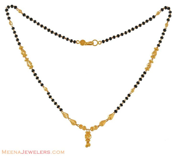 Traditional Maharashtrian mangalsutra necklace.