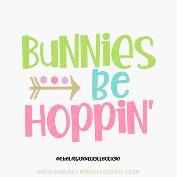 Easter SVG file Bunnies be Hoppin svg Boy by TheLagunaCollection