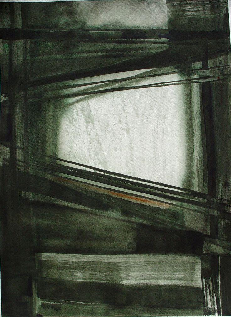 """Winter"" by Bianka Guna Art 2005 Series Acrylic On paper 30""x22"""