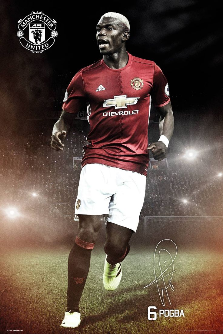 #Manchester United Pogba 16/17 Maxi Poster #Manchester United collector print starring promising midfielder Paul Pogba. Who holds the world record for the largest transfer fee of '¬105 million after his return to Manchester in 2016 from Italian club Juventus. (Barcode EAN=5028486363162)