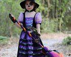 Halloween: Vestido Bruxa Floresta Luxo