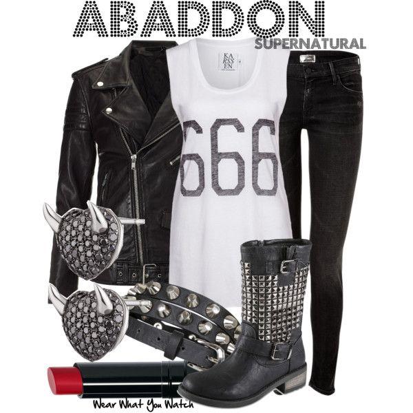 Abaddon from Supernatural Inspired Make Up Tutorial - YouTube   Abaddon Supernatural Cosplay