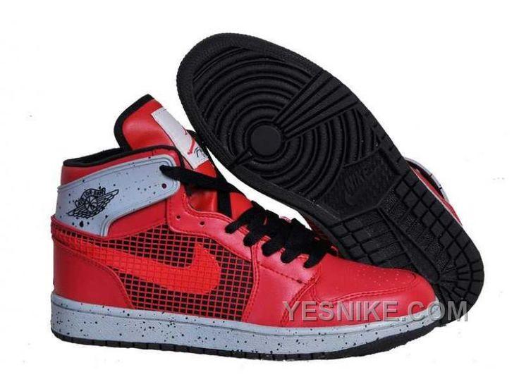 Nike Air Jordan 1 Mens 89 Fire Red Black CeMenst Grey White Shoes Mdarm