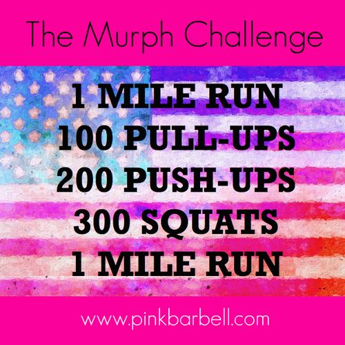 "The ""Murph Challenge"" is a crossfit wod name after Navy Lieutenany Michael Murphy. It's a great workout to try in honor of Veterans Day! Has anyone ever completed the Murph Challenge? ☺. ☺ ✿"