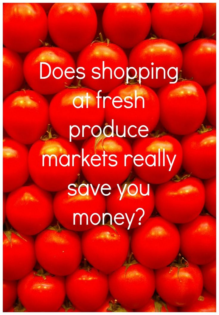 Does shopping at fresh produce markets really save you money?Thrifty food shopping really can make a difference