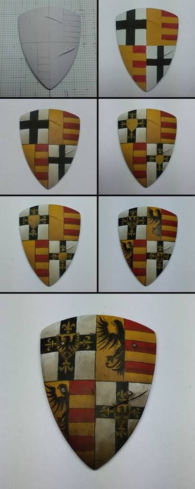 Shield Heraldry Project tutorial #tutorial #painting #miniatures #hobby…