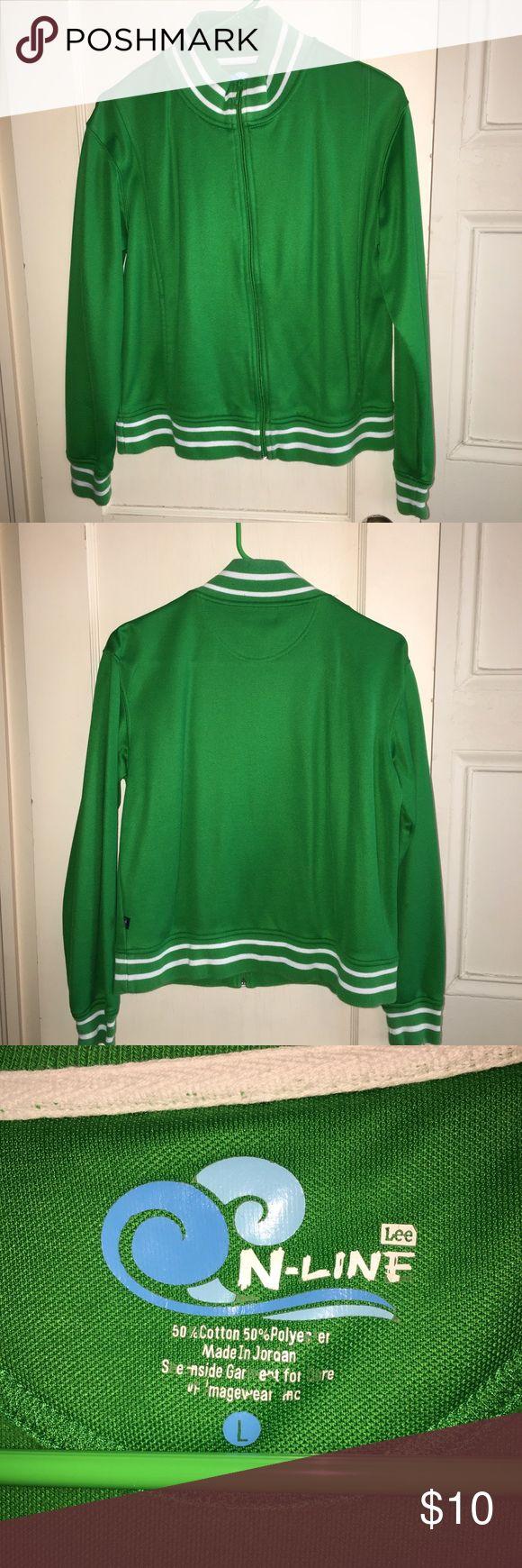 I just added this listing on Poshmark: 💚 Bright Green Athletic Jacket. #shopmycloset #poshmark #fashion #shopping #style #forsale #Lee #Jackets & Blazers