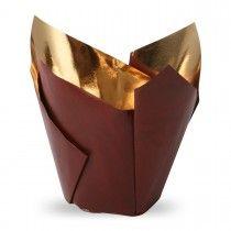 Muffiny tulipan Royal bordo+złoto 50x80